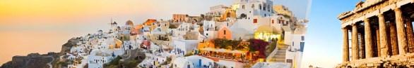 Atenas y Santorini en avión