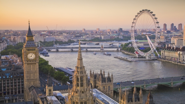 76709 640x360 houses of parliament and london eye on thames from above 640 - 5 Top Places to Visit in the World – Most Beautiful Cities