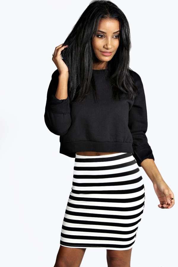Striped Short Skirt - Skirts