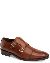 new york brooklyn leather double monk strap shoe