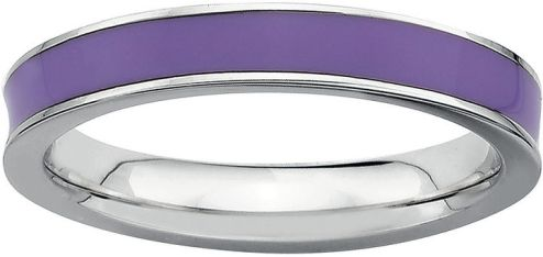 jcpenney Fine Jewelry Personally Stackable Sterling Silver Purple         jcpenney Fine Jewelry Personally Stackable Sterling Silver Purple  Enamel Stackable Ring