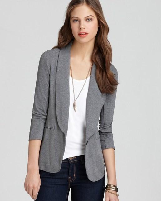 Resultado de imagen de blazer gris mujer