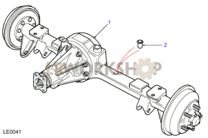 Rear Axle Assembly  Land Rover Type Axle, with rear drum