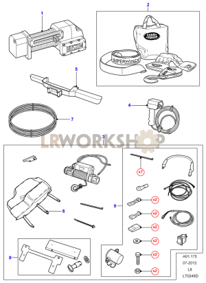 Winch Assembly  Find Land Rover parts at LR Workshop