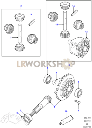 Crownwheel And Pinion  2 Pin Front  Find Land Rover parts at LR Workshop