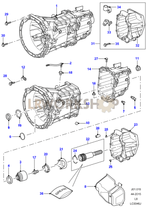 Manual Transaxle and Case  Find Land Rover parts at LR Workshop