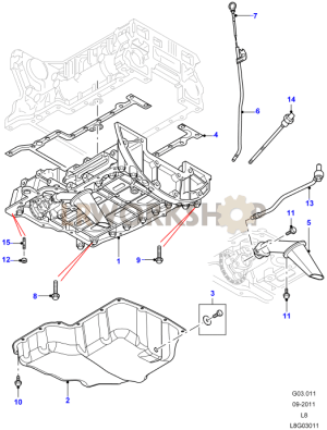Oil Sump and Dipstick  22 Tdci  Find Land Rover parts