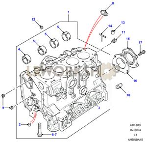 Cylinder Block  300Tdi  Find Land Rover parts at LR Workshop