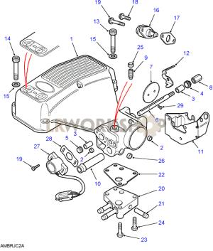 Plenum Chamber  V8 3940L EFi  Find Land Rover parts