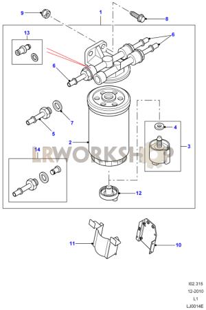 Fuel Filter  Td5  Find Land Rover parts at LR Workshop