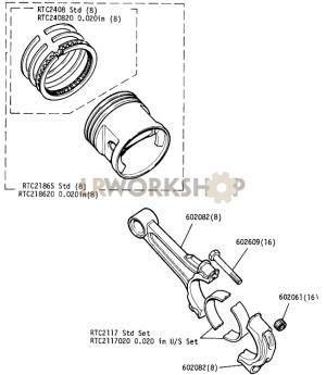 Pistons  109in V8  813:1 Compression Ratio  Find Land