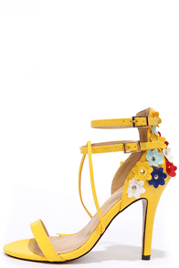 New Horizon Yellow High Heel Sandals