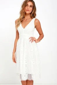 Charmed Ivory Lace Midi Dress
