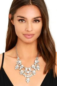 One In a Million Silver and Clear Rhinestone Necklace