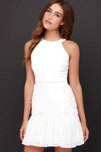 girls night out ivory lace dress at