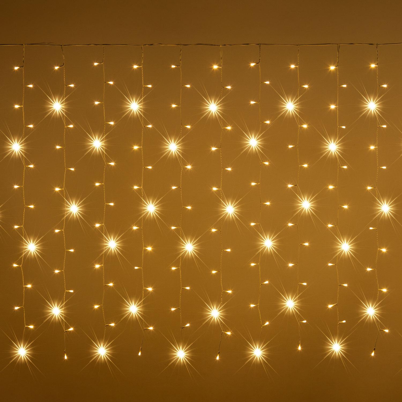 Tenda luminosa natale catene luminose luci led tende con 8 modalità di illuminazione per esterno/interno, addobbi natalizi per la casa,camera da letto. Tende Luminose Luminal Park