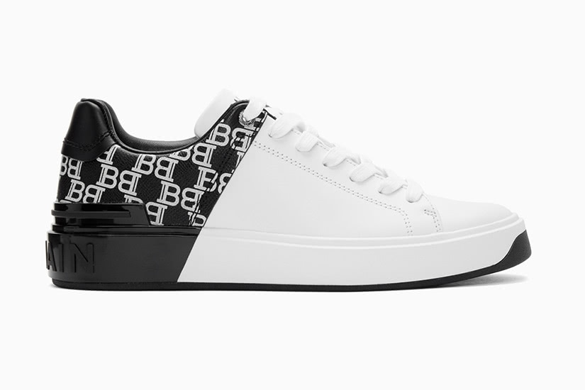 Balmain black and white men sneakers - Luxe Digital