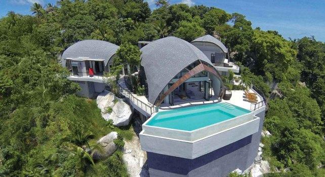 La villa Moon Shadow : Une architecture unique sur une île paradisiaque