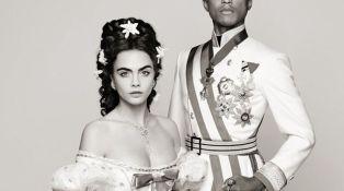 Cara Delevingne et Pharrel Williams pour Chanel