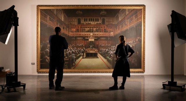 Banksy : Record de vente pour un tableau de l'artiste adjugé à 11,1 millions d'euros