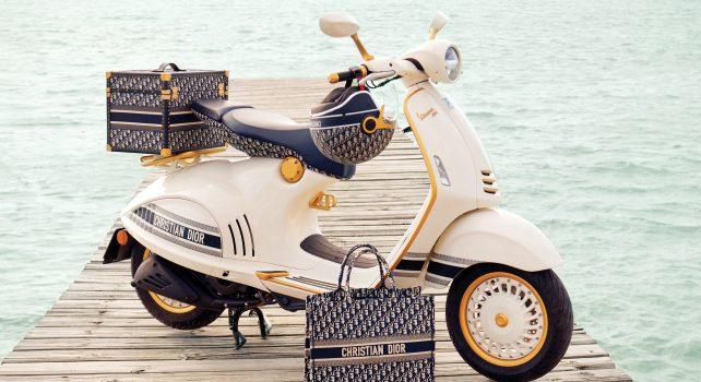 Dior x Vespa : Un scooter aux couleurs de la maison de luxe française