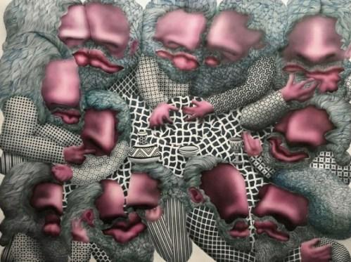 Jose Lerma Last Upper, 2017 Acrylic on canvas 131 x 165 cm