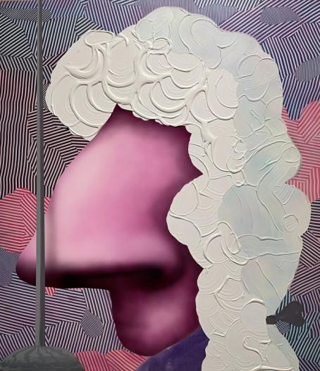 Jose Lerma The Duelist, 2017 Acrylic on canvas 163 x 143 cm