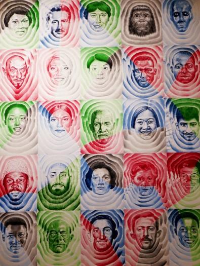 Filippos Telesto In-flu-encers, 2020 Ink on canvas 235 x 190 cm