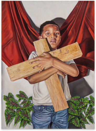 Tyler Ballon Take up your Cross 2020 Oil on canvas 121,9 x 81,3 cm