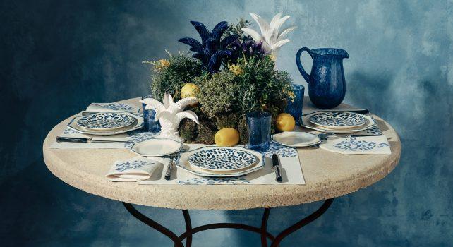 Dior présente sa nouvelle collection art de la table : Blue Mizza