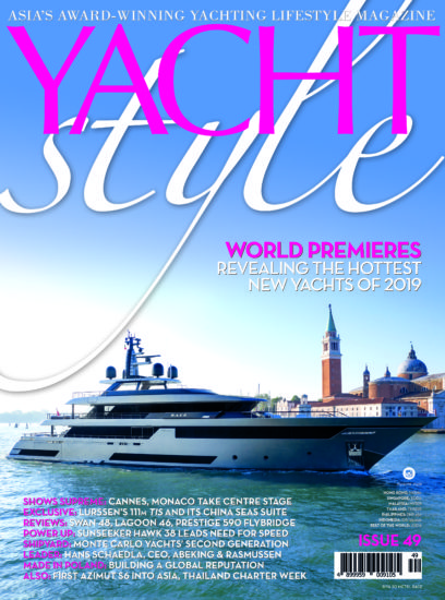 Yacht Style Issue 49 focuses on the world premieres of the hottest new models of 2019