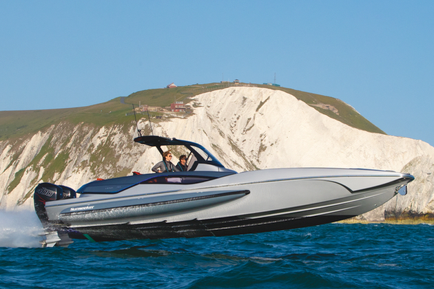 Sunseeker's new Hawk 38 has her world premiere at Cannes - and is already reviewed in Yacht Style