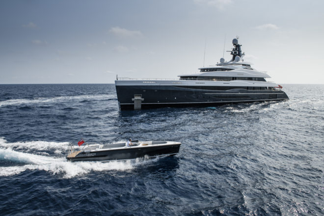 The 74m Elandess has a spectacular Neptune Lounge, offering views above and below the water