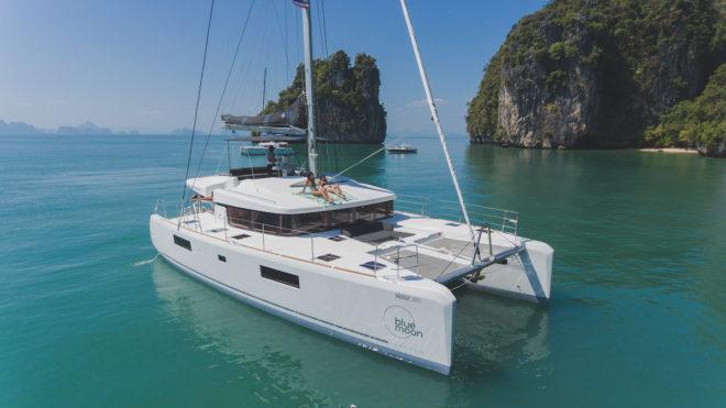 Pattaya The Lagoon 52 sailing cat Blue Moon, a popular charter catamaran represented by Simpson Marine