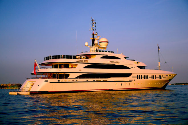 Ambrosia, a 65m Benetti, is for sale through Camper & Nicholsons