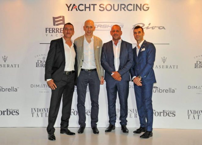 Yacht Sourcing was appointed Indonesia dealer for Ferretti Yachts, Riva and Pershing in 2017