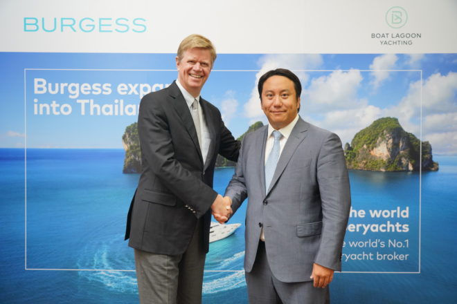 Burgess has partnered with Boat Lagoon Yachting in Thailand