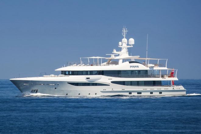 The 51m Codecasa Atlas and 55m Amels Papa were among 12 superyacht deals secured by Burgess' Asia team