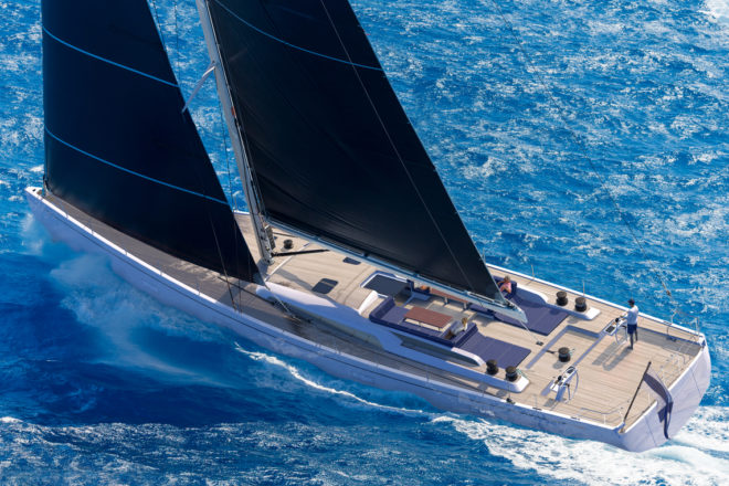 The Swan 98 world premiere is scheduled for the Monaco Yacht Show