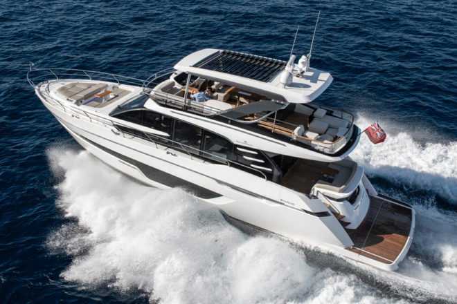 The Fairline Squadron 68 has a powerful exterior stance and handles well on the water