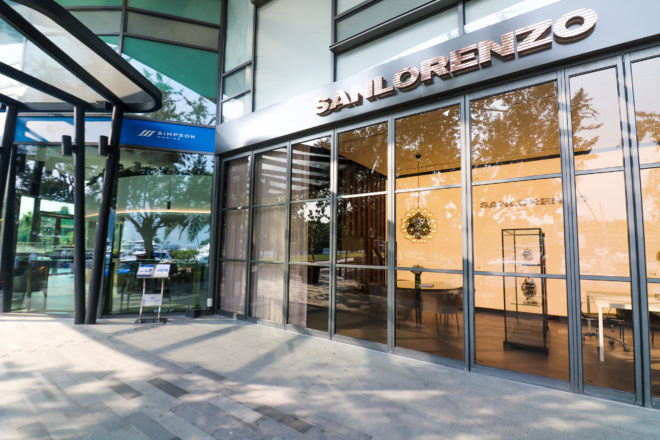 The Sanlorenzo Asia office in Singapore is next to partner Simpson Marine