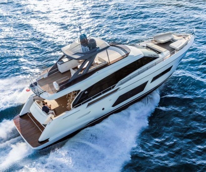 The Ferretti Yachts 670 has been delivered to Hong Kong, Singapore and Sanya
