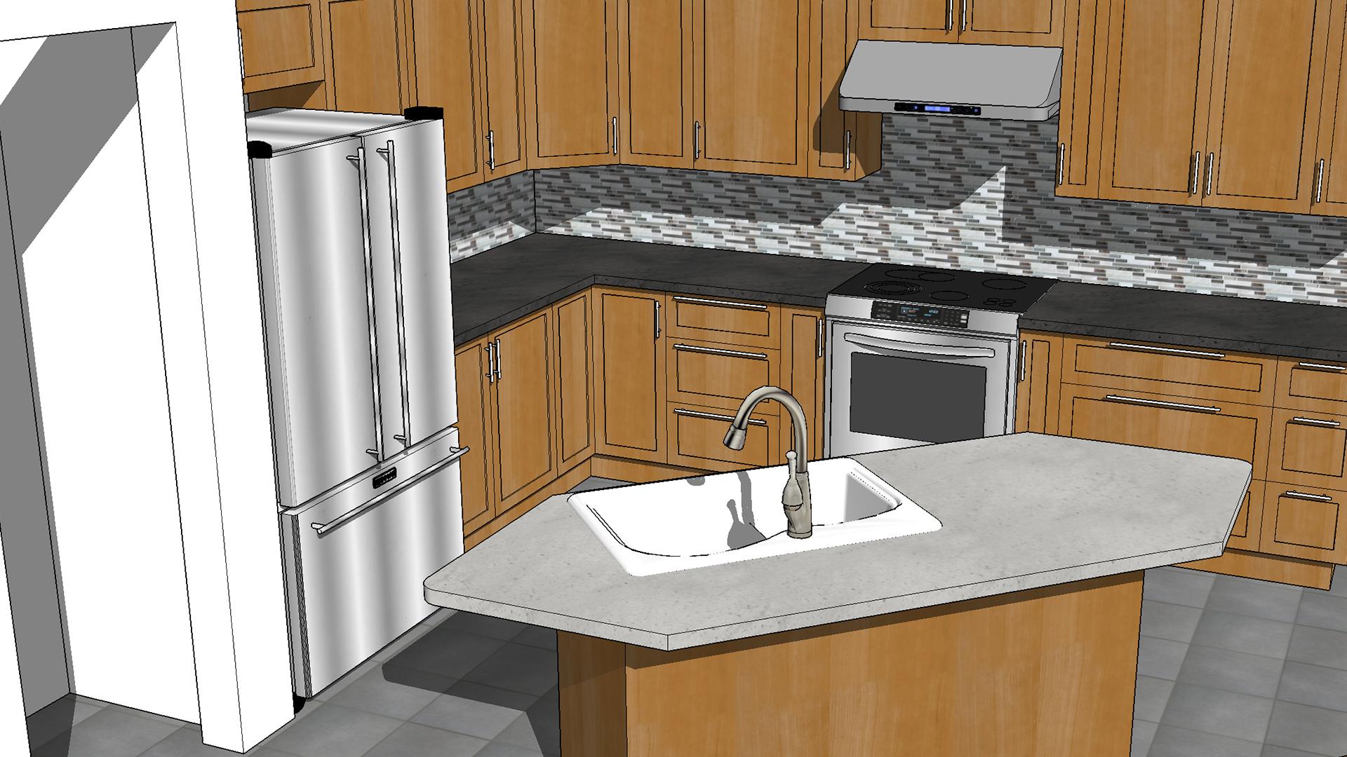 Sketchup Kitchen Design