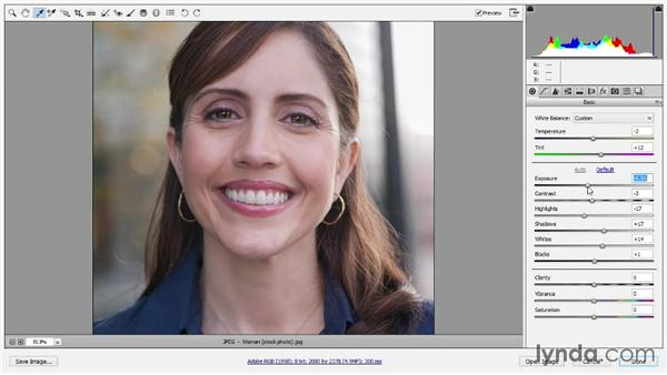 Editing a JPEG image in Camera Raw