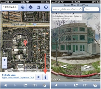 Google Adds Street View to Web Based Google Maps for Mobile Devices