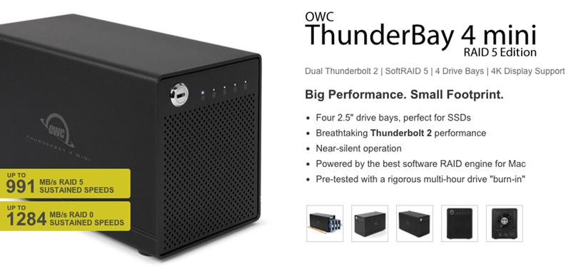 OWC introduce nuovi il mini stoccaggio portatile di ThunderBay 4 con opzione di RAID 5 [blog del mackintosh]