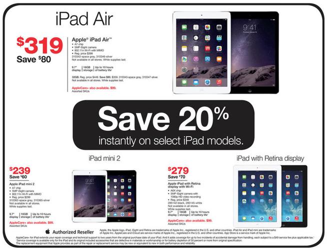 Staples e Radio Shack per offrire gli sconti modesti di Black Friday sui iPads, su iPod e su più