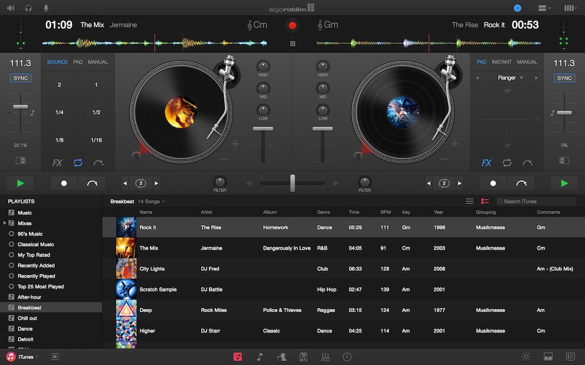Djay per il mackintosh va pro con integrazione di Spotify, linterfaccia migliorata e le caratteristiche più potenti [blog del mackintosh]