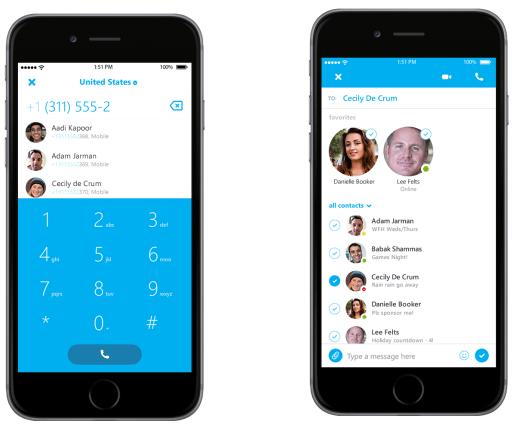 Skype per il iPhone aggiunge i miglioramenti di UI ed il programma migliorati di risposte del Pre Rilascio [blog dellIOS]