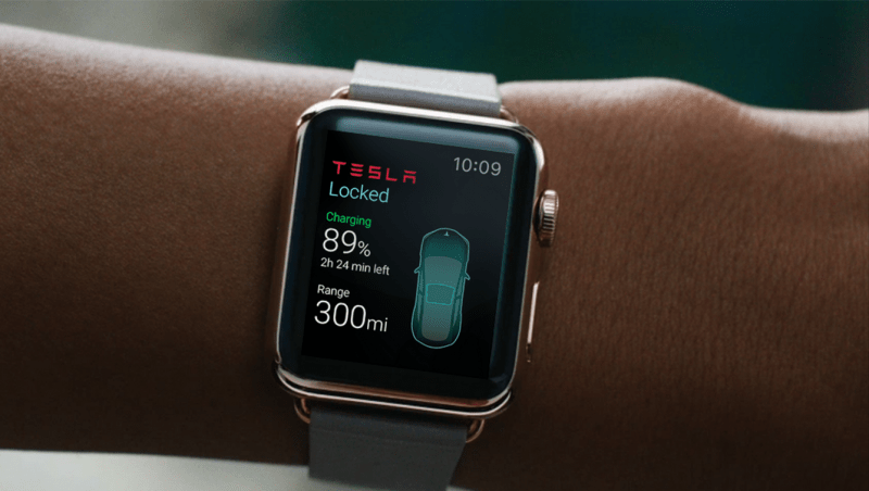 Tesla Apple Watch App